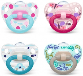 NUK Dudlík Classic HAPPY DAYS duo pack, SI, V1 (0-6m.) SRP